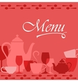 Restaurant menu cover vector image vector image