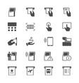 kiosk flat icons vector image vector image