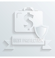 Business briefcase protected deal icon vector image