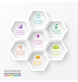 hexagons for infographic vector image
