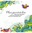 abstract floral card series 15 vector image vector image