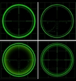 Radar screen or sniper sight vector image