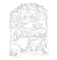 Colouring Page Of Mermaid House vector image