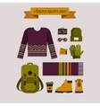 Autumn hipster look vector image