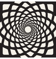 Black And White Rounded Lines Spiral Shape vector image