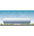 Football Stadium and blue sky vector image