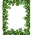 Frame of fir branches for Christmas card Greeting vector image