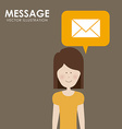 Message design vector image