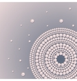 Pearl ornament on a blue gradient background vector image