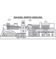 raleigh north carolina architecture line skyline vector image