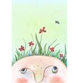 Summer flowers head vector image
