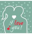 Valentine s Day Heart and Love Background vector image