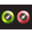 Yes no buttons Tick and cross vector image