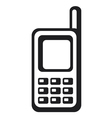 Mobile phone icon vector image vector image