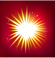Shiny star isolated on red background vector image