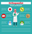 future profession orthopaedist infographic vector image