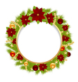 fir wreath 0311 vector image vector image