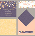design template of wedding invitation with vector image
