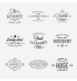 Retro Typography Discount and Sale Labels vector image vector image