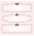 frames flowers horizontal vector image