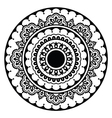 Mehndi Indian Henna floral tattoo round pattern vector image