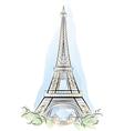 eiffel tower france vector image