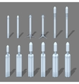 Modern space rocket vector image
