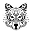 ornamental Wolf ethnic zentangled mascot vector image vector image