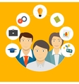 Helping an Individual Person Student Business vector image