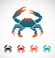 Set of crab icons design vector image vector image