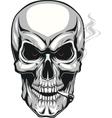 Evil skull with cigarette vector image