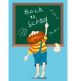 boy writes on a blackboard vector image