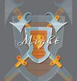 fantasy cartoon style game design medieval vector image