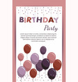 happy birthday card with balloons birthday party vector image