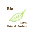Natural product label vector image
