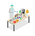 scientist person on laboratory concept experiment vector image
