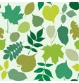 Tree leaves seamless pattern vector image