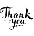 Hand drawn calligraphic design for sign Thank you vector image