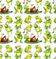 Seamless frog vector image vector image