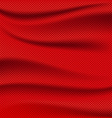 Red fabric texture wave background vector image
