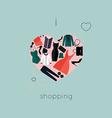 I Love Shopping icon vector image