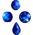 sapphire blue faceted beads vector image