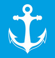 anchor icon white vector image