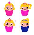 Cute little princess vector image