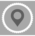 Map Marker flat dark gray and white colors round vector image