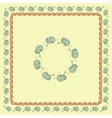 seamless floral spring frames vector image