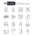 Modern thin line icons set of basic business vector image