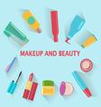 MakeUp and beauty Symbols Cosmetics and fashion ba vector image