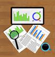 analytics and statistics vector image
