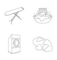 ironing board and other accessories dry cleaning vector image